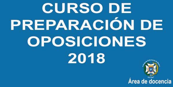 Banner curso oposiciones 2018