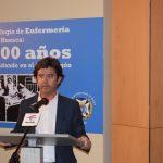 El Alcalde de Huesca, Luis Felipe, en su discurso en la exposición. I.C.