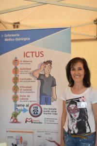 Trini Calvo en la carpa de Enfermería Médico-Quirúrgica el pasado sábado
