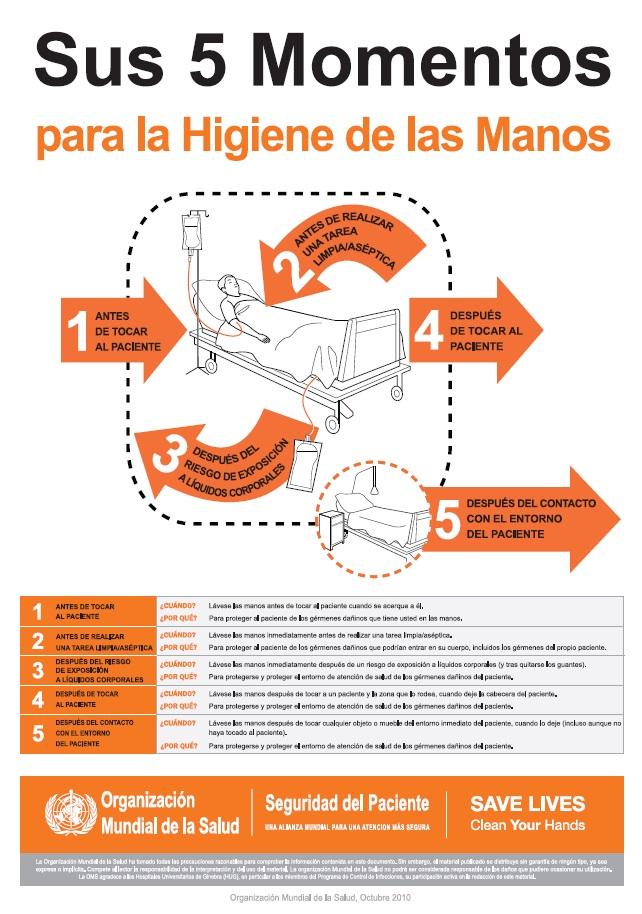 La Oms Pide 5 Momentos Para La Higiene De Manos Colegio Oficial De Enfermería De Huesca