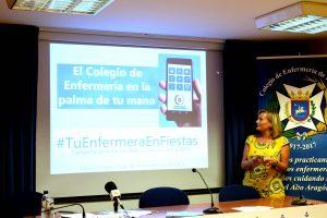 Carmen Tosat durante la presentación