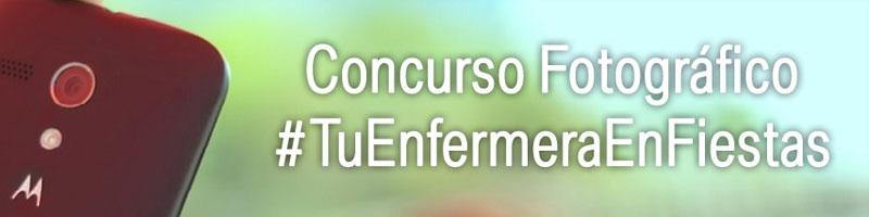 banner concurso fotográfico #tuenfermeraenfiestas