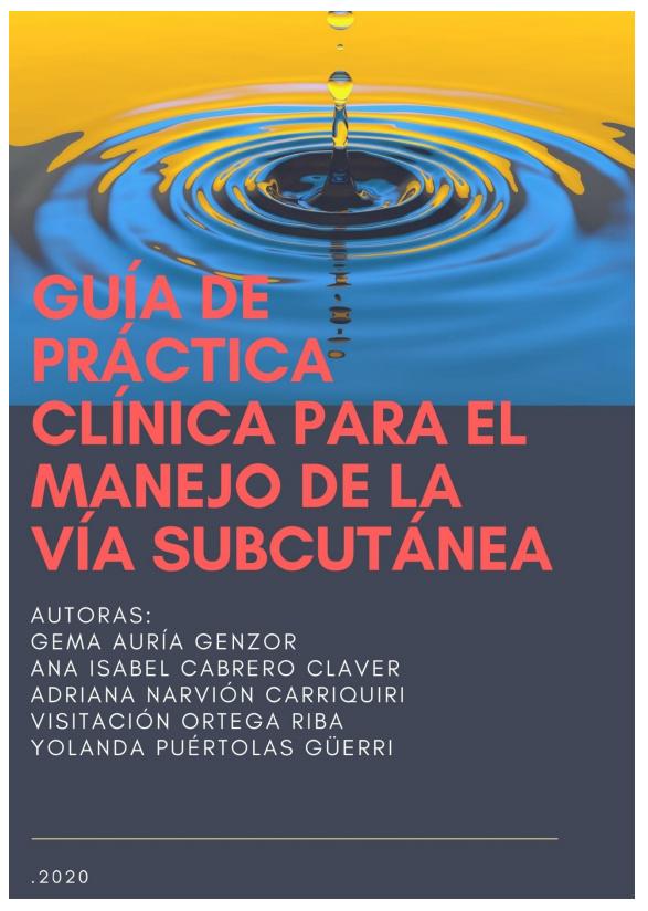 Guía de práctica clínica para el manejo de la vía subcutánea